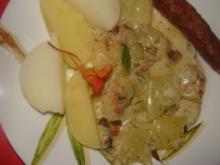 Gemüse : Schnelles Schmorgurkengemüse in leichter Käsesoße - Rezept