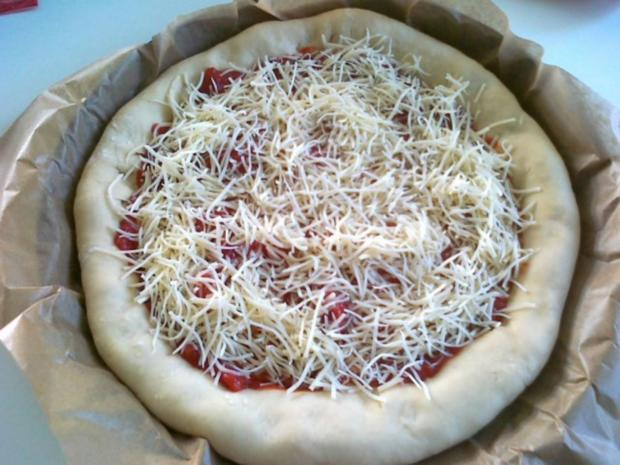 Meine Lieblings Pizza mit Käserand... - Rezept - Bild Nr. 9
