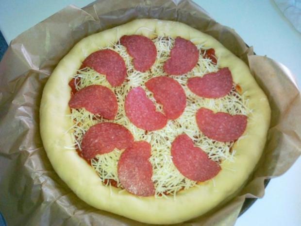 Meine Lieblings Pizza mit Käserand... - Rezept - Bild Nr. 10