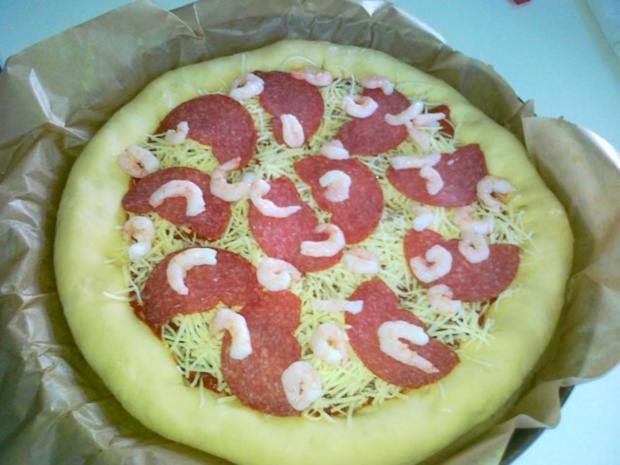 Meine Lieblings Pizza mit Käserand... - Rezept - Bild Nr. 11