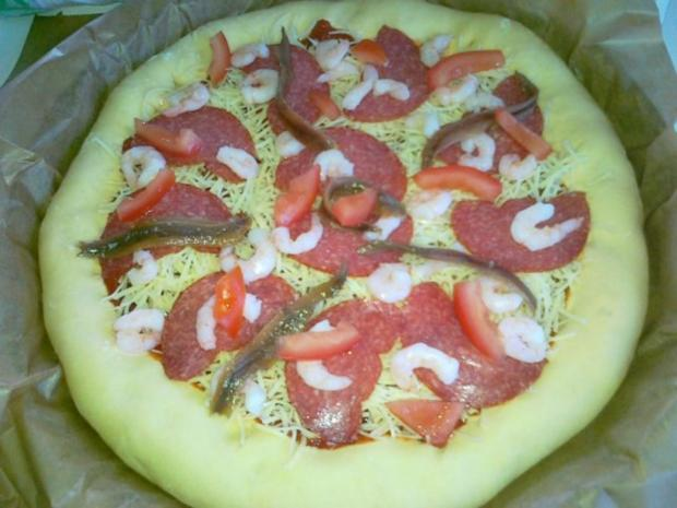 Meine Lieblings Pizza mit Käserand... - Rezept - Bild Nr. 13