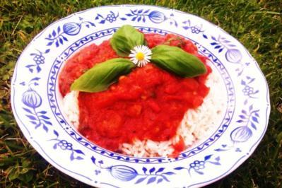 Tomatensauce aus frischen (Garten-)Tomaten - Rezept