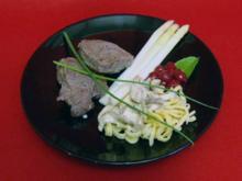 Filet vom Vorderwälder Rind nach Schwarzwälder Art, dazu Spätzle und Badischer Spargel - Rezept