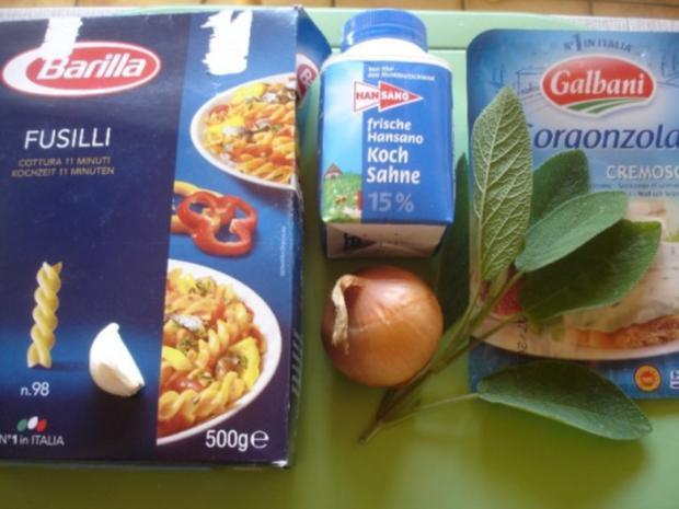 Nudeln mit Salbei-Gorgonzola-Sauce - Rezept - Bild Nr. 2