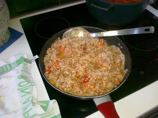 Express-Reis-Pfanne mit Hack- und Gemüse - Rezept - Bild Nr. 4