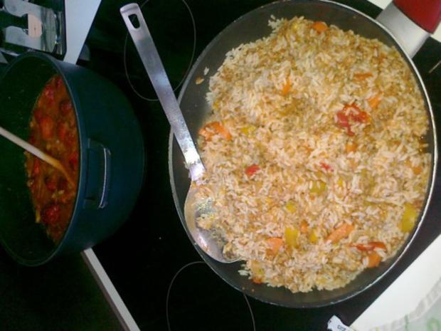 Express-Reis-Pfanne mit Hack- und Gemüse - Rezept - Bild Nr. 5