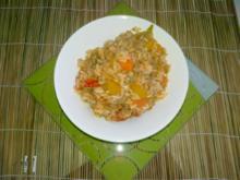 Express-Reis-Pfanne mit Hack- und Gemüse - Rezept