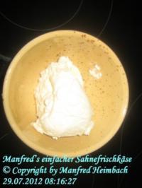 Käse - Manfred's einfacher Sahnefrischkäse - Rezept