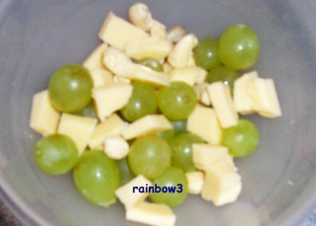 Zwischenmahlzeit Trauben Käse Salat Mit Joghurt Dressing Rezept