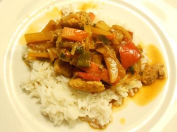Super schnelle Asia-Pfanne mit Putenfleisch und Gemüse - Rezept