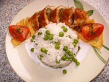 gefüllte Hähnchenbrust an Reis - Rezept
