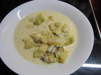 Rezept: Zucchini Creme Suppe frisch aus dem Garten...