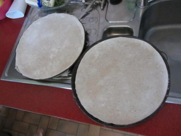 Flammkuchen selbst gemacht.--Im eigenen Pizza -ofen... - Rezept - Bild Nr. 21