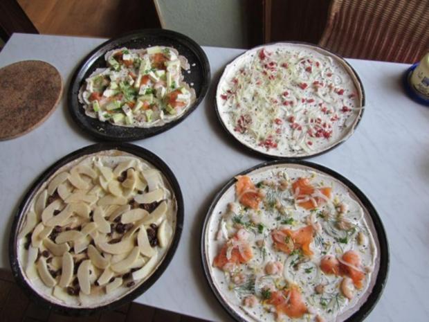 Flammkuchen selbst gemacht.--Im eigenen Pizza -ofen... - Rezept - Bild Nr. 4
