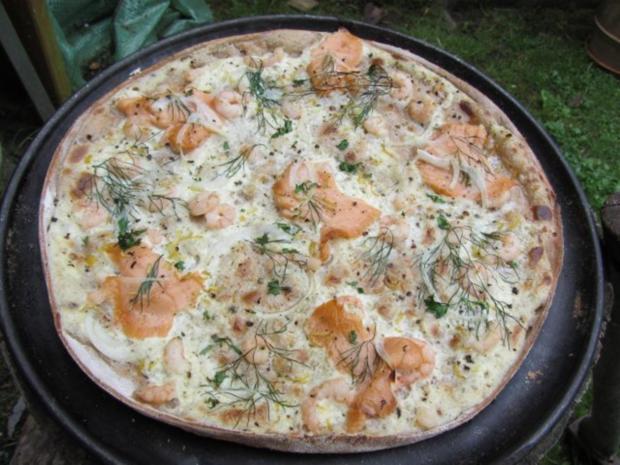 Flammkuchen selbst gemacht.--Im eigenen Pizza -ofen... - Rezept - Bild Nr. 35