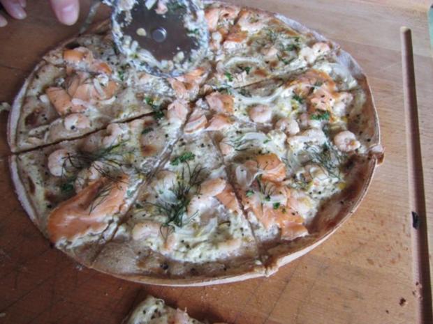 Flammkuchen selbst gemacht.--Im eigenen Pizza -ofen... - Rezept - Bild Nr. 36