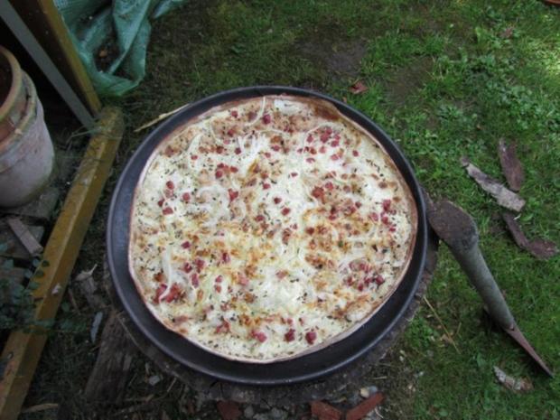 Flammkuchen selbst gemacht.--Im eigenen Pizza -ofen... - Rezept - Bild Nr. 38