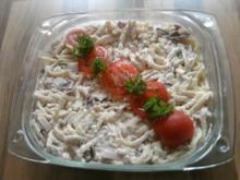 Nudelauflauf/ Kartoffelauflauf oder hier Spätzle-Auflauf mit Frischkäse und Allerlei - Rezept