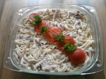 Rezept: Nudelauflauf/ Kartoffelauflauf oder hier Spätzle-Auflauf mit Frischkäse und Allerlei