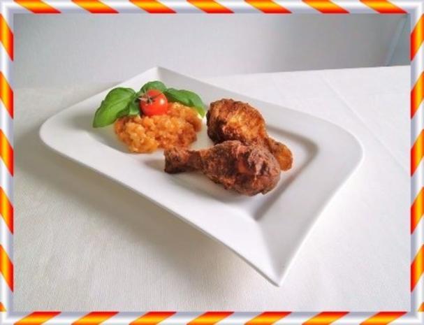 Knusprig frittierte Hähnchen – Unterkeulen mit Reis - Rezept - Bild Nr. 14