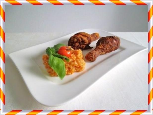 Knusprig frittierte Hähnchen – Unterkeulen mit Reis - Rezept - Bild Nr. 13