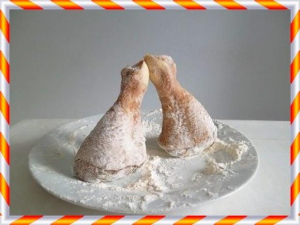 Knusprig frittierte Hähnchen – Unterkeulen mit Reis - Rezept - Bild Nr. 6