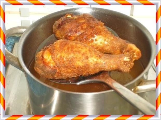 Knusprig frittierte Hähnchen – Unterkeulen mit Reis - Rezept - Bild Nr. 9