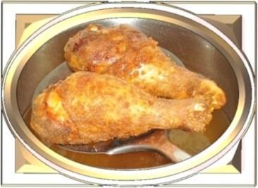 Knusprig frittierte Hähnchen – Unterkeulen mit Reis - Rezept