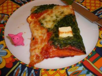 Pizza mit Spinat - Rezept