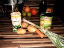 Erbsen-Gemüsesuppe Einkochen aus Resten - Rezept