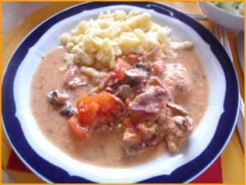 Italienisches Schweinefilet mit schwäbischen Knöpfle und Chinakohlsalat - Rezept