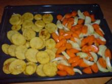 Ofenhähnchen mit Möhrengemüse - Rezept