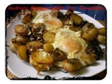 Kartoffeln: Bratkartoffeln mit Ziegenkäse - Rezept