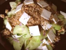 Gurkensalat mit Dattel-Nusspüree - Rezept