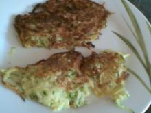 Zucchini-Kartoffelpuffer - Rezept