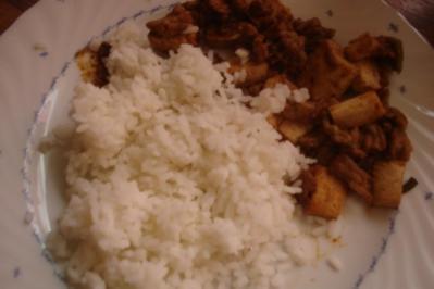 Rezept: Mapo-Tofu - Reis mit Tofu und Hackfleisch