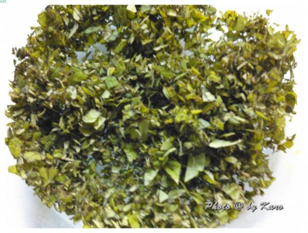 Mangold Kräuterrolle mit gebratenem Salbei und mariniertem Lamm Nacken - Rezept - Bild Nr. 3