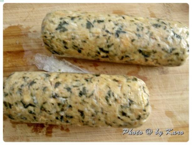 Mangold Kräuterrolle mit gebratenem Salbei und mariniertem Lamm Nacken - Rezept - Bild Nr. 9