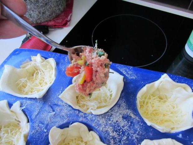Pikante - Hackfleisch – Muffins mit Creme - Fraiche - Rezept - Bild Nr. 19