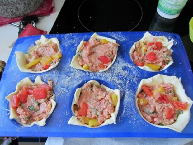 Pikante - Hackfleisch – Muffins mit Creme - Fraiche - Rezept - Bild Nr. 20