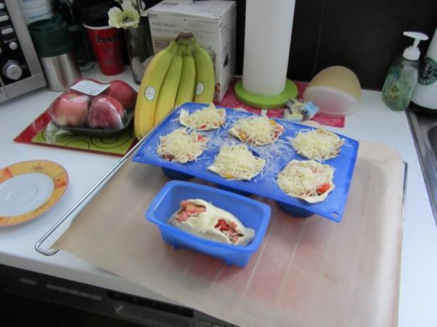 Pikante - Hackfleisch – Muffins mit Creme - Fraiche - Rezept - Bild Nr. 25