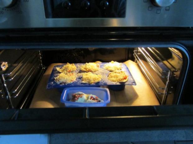 Pikante - Hackfleisch – Muffins mit Creme - Fraiche - Rezept - Bild Nr. 26