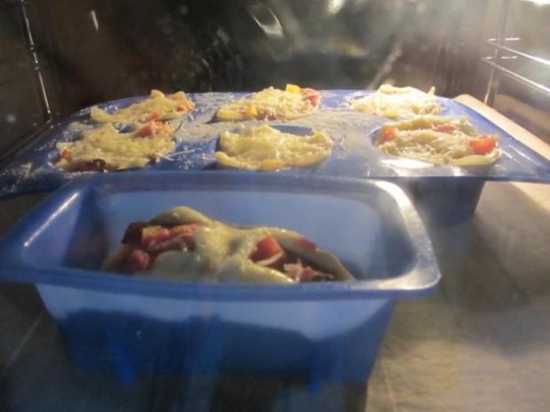 Pikante - Hackfleisch – Muffins mit Creme - Fraiche - Rezept - Bild Nr. 27