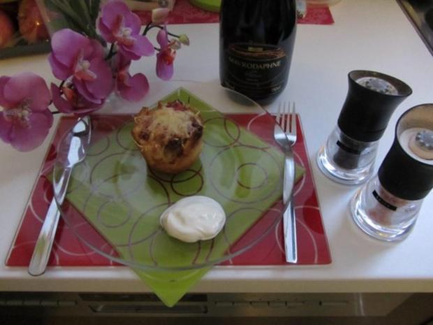 Pikante - Hackfleisch – Muffins mit Creme - Fraiche - Rezept - Bild Nr. 30