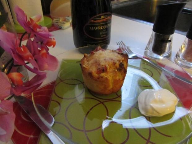 Pikante - Hackfleisch – Muffins mit Creme - Fraiche - Rezept - Bild Nr. 31