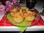 Pikante - Hackfleisch – Muffins mit Creme - Fraiche - Rezept