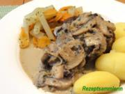 Fleisch:   FRIKADELLEN an Rahmchampignon - Rezept