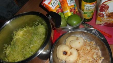 Zucchini-Apfel-Marmelade eingemacht - Rezept
