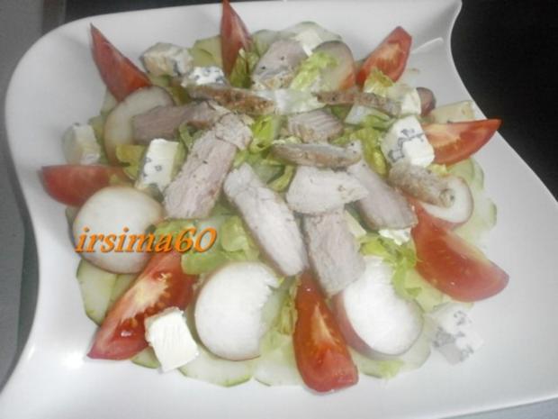 Fruchtiger  Salat mit Streifen vom Schweinefilet  und Cambozola - Rezept - Bild Nr. 4