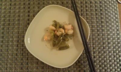Shrimps im Bohnenhäufl - Rezept